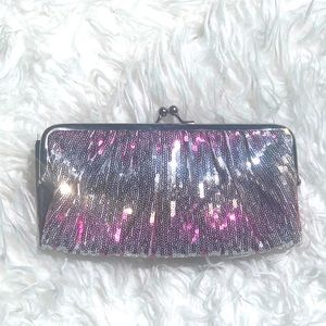 NWOT Sequin wallet / clutch in silver,gold,pink